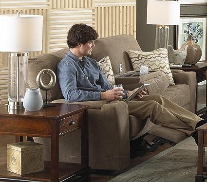 Amazon Com Harrison Reclining Sofa Power Kitchen Dining