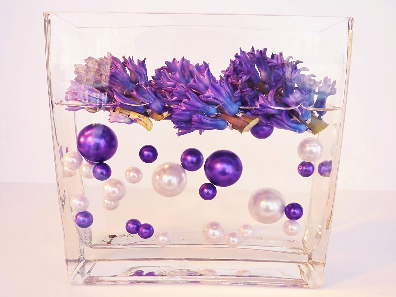 Amazon 80 jumbo assorted sizes all purple pearls vase amazon 80 jumbo assorted sizes all purple pearls vase fillers value pack not including the transparent water gels for floating the pearls sold reviewsmspy