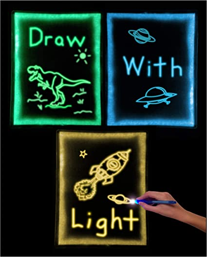 GlowSketch: Use Light To Draw - Glow in the Dark Drawing Sheet - Tracing, on