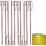 Absperrhalter Absperrleinenhalter Stahl, Set mit 10 Stück - für Fangzaun, Flatterband, Warnband