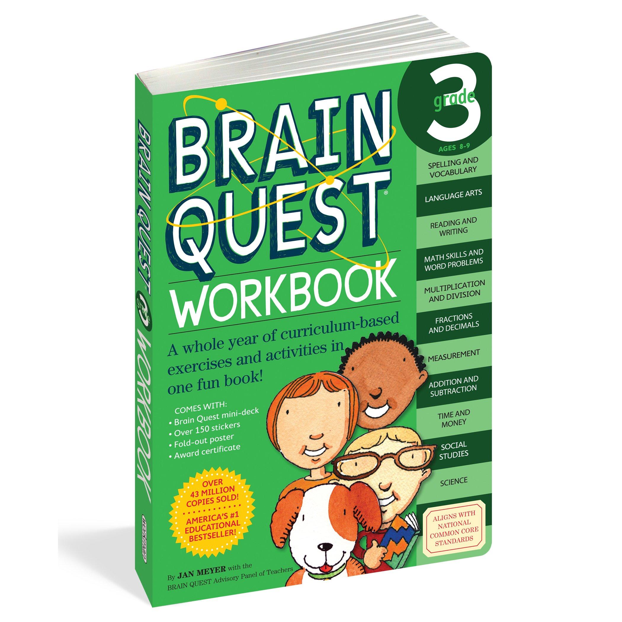 Brain Quest Workbook: Grade 3: Janet A. Meyer: 0019628149169: Amazon ...