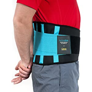 Support for Back, Lumbar Brace - the Only Certified Medical-Grade Lower Back Belt for Pain Relief and Injury Prevention | Double Adjustment for Perfect Fit | For Men and Women | ActiveBak by Clever Yellow | 4 Sizes