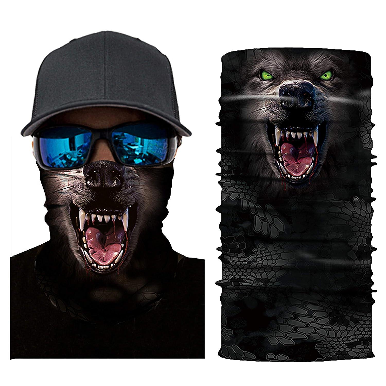 3D フェイスシールド 2019 改良されたネックゲートル ヘッドウェア ヘッドバンド マジックスカーフ シームレスバンダナ メンズ レディース ランニング 釣り ハイキング オートバイ用   B07N4PBN17