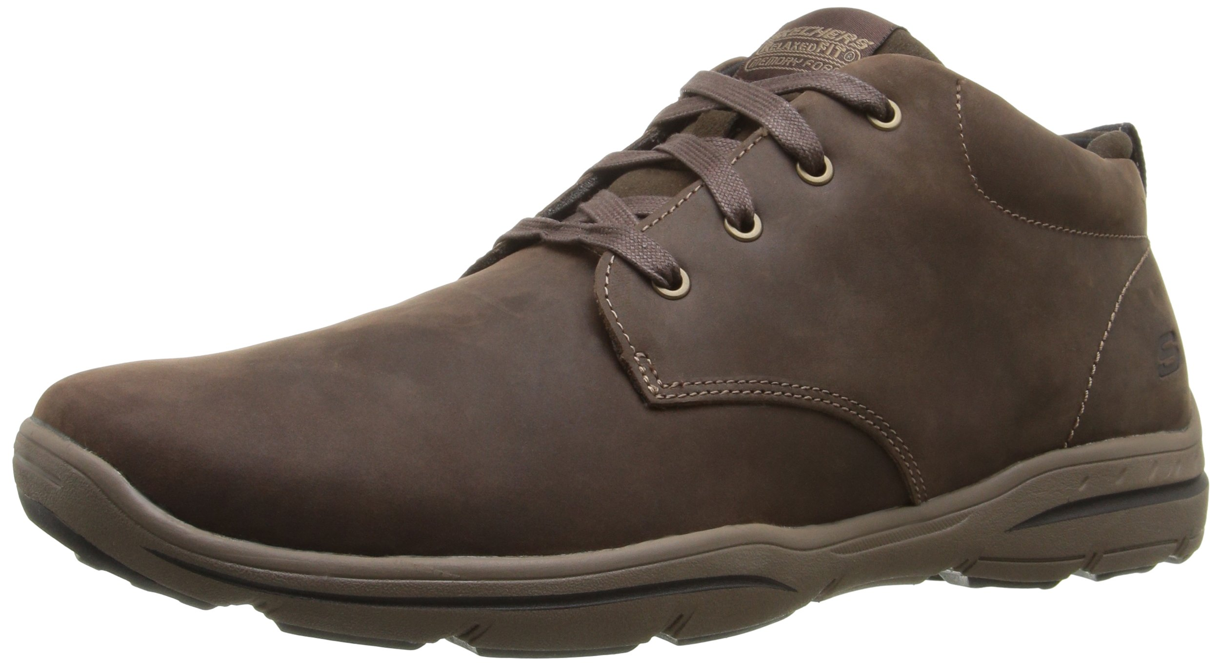 Skechers USA Men's Harper Meldon Chukka Boot,Chocolate,10.5 M US