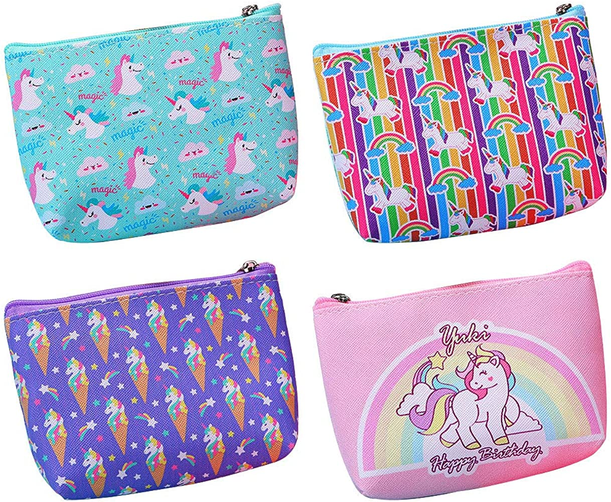 Personalized Card Pouch Personalized Unicorn Change Purse Personalized Unicorn Small Wallet