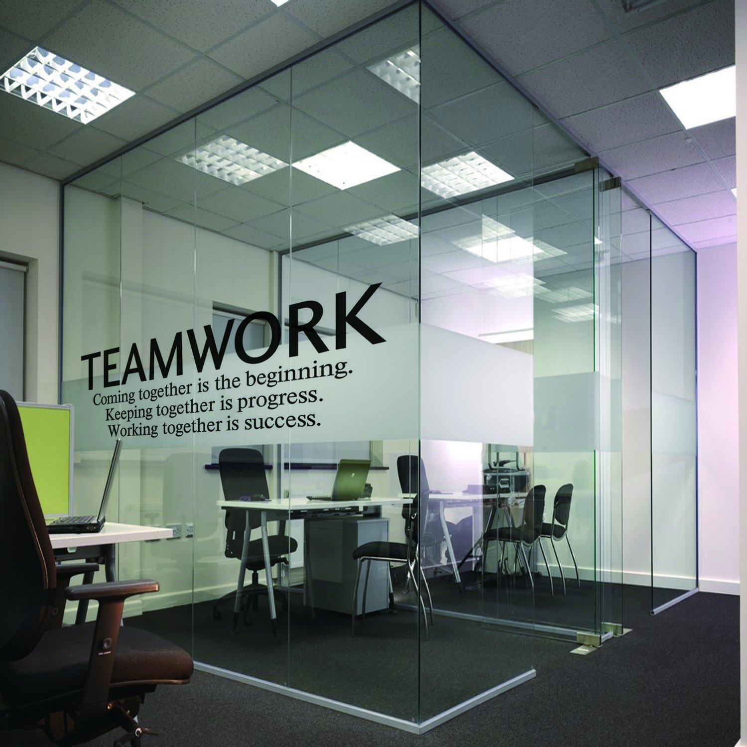 N sunforest quotes wall decal teamwork definition office wall decor inspirational lettering sayings wall art