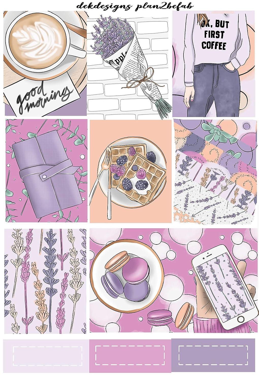 Girl Boss Aesthetic Latte Mini Kit    Premium Matte Planner Sticker Kit for Vertical Planners Home Office Coffee Warm Anytime