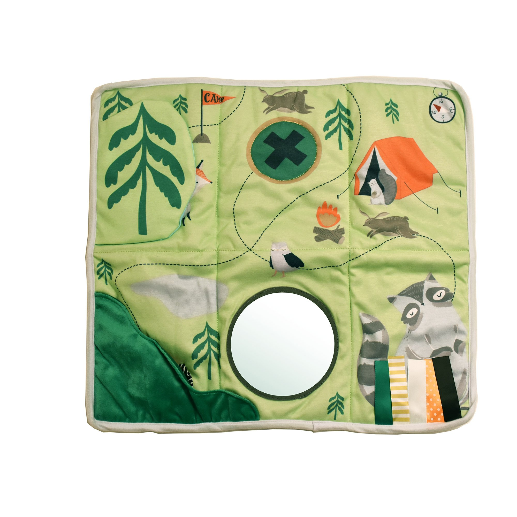 Manhattan Toy Camp Acorn Sensory Activity Play Mat with Tethered Teether Baby Toy