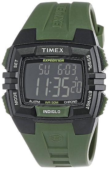 Timex T49903SU - Reloj cronógrafo de Cuarzo para Hombre con Correa de Resina, Color Verde
