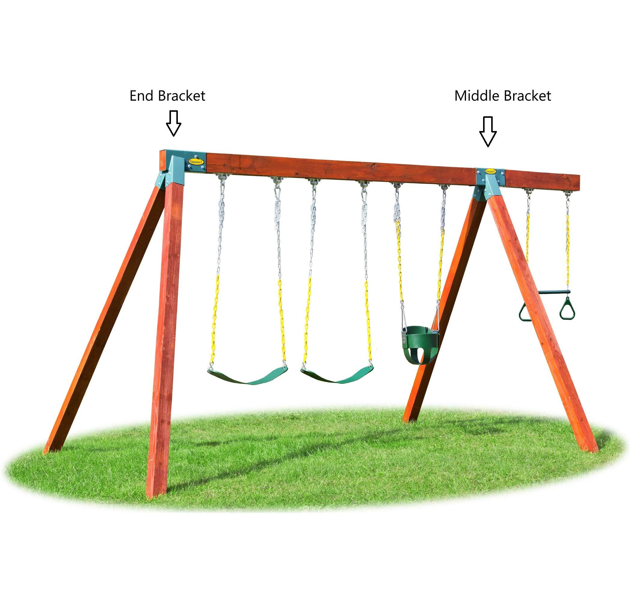 Eastern Jungle Gym Easy 1-2-3 A-Frame Swing Set Bracket Heavy Duty ...