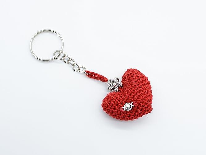 Rote Herz Schlüssel Kette der Valentinsgrüße, Geschenk mit Liebe ...