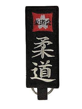 Budodrake - Llavero con cinturón Negro y Bordado de Judo ...
