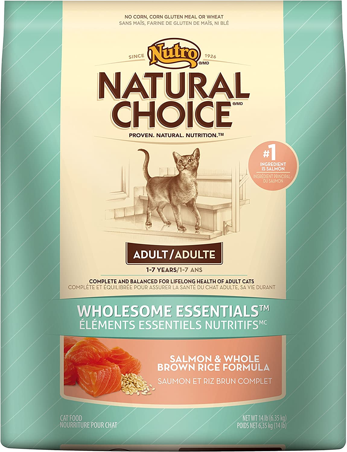 Natural Choice Wholesome Essentials Adult Cat Salmon And Whole Brown Rice Formula - 3 Lbs. (1.36 Kg)