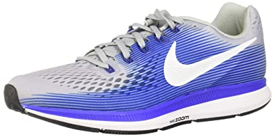 2d3d48a98233e Nike Men's Air Zoom Pegasus 34 Wide (2E) Running Shoe Wolf Grey/White-Racer  Blue 10.0