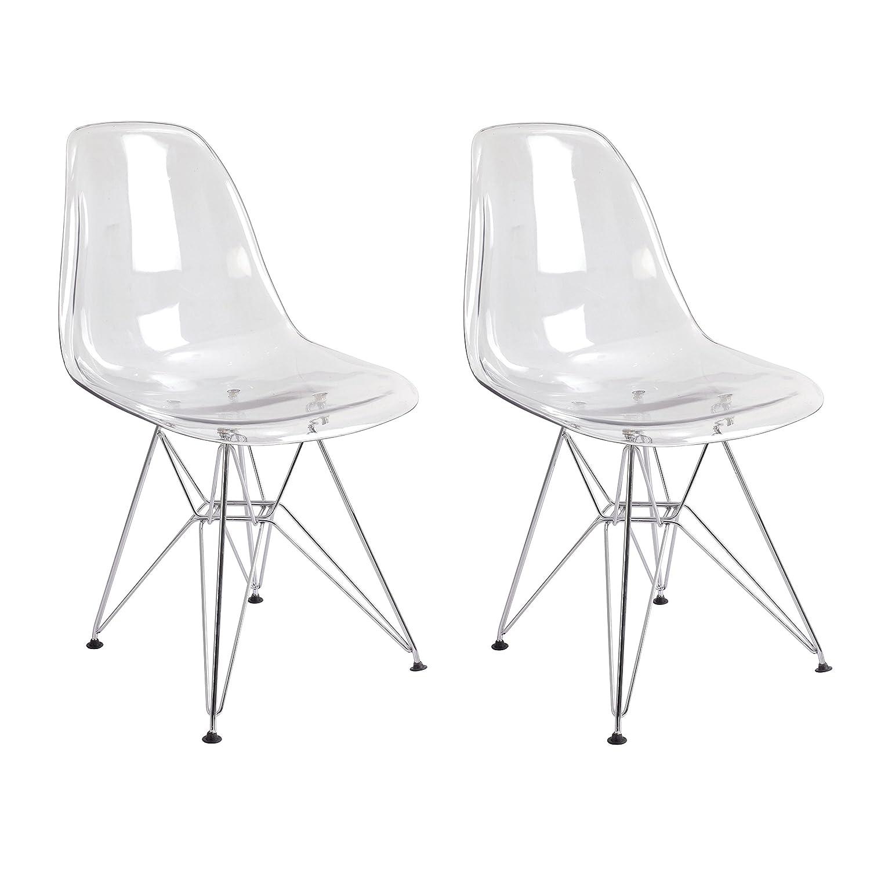 Amazon Mod Made Mid Century Paris Tower Acrylic Side Chair