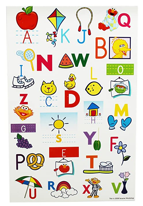 Amazoncom Sesame Street Alphabet Lower And Uppercase Letters