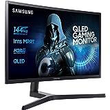 """Samsung LC32HG70QQUXEN Ecran PC QLED 32"""" 2560 x 1440 1 ms HDMI/DP 16:9 Gris/Bleu Foncé Mat"""