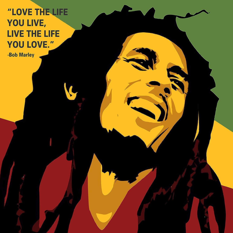 100yellow Bob Marley Quote Printed Wall Art Canvas Painting/ Wall ...