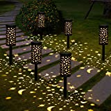 Luces Solars de Jardín GolWof 6 Piezas Led Lámpara Solar Exterior Decoración Iluminación de Caminos Sin Cables Impermeables IP44 Prevención de la Oxidación Recargable Automática Luz Amarilla Cálida: Amazon.es: Iluminación