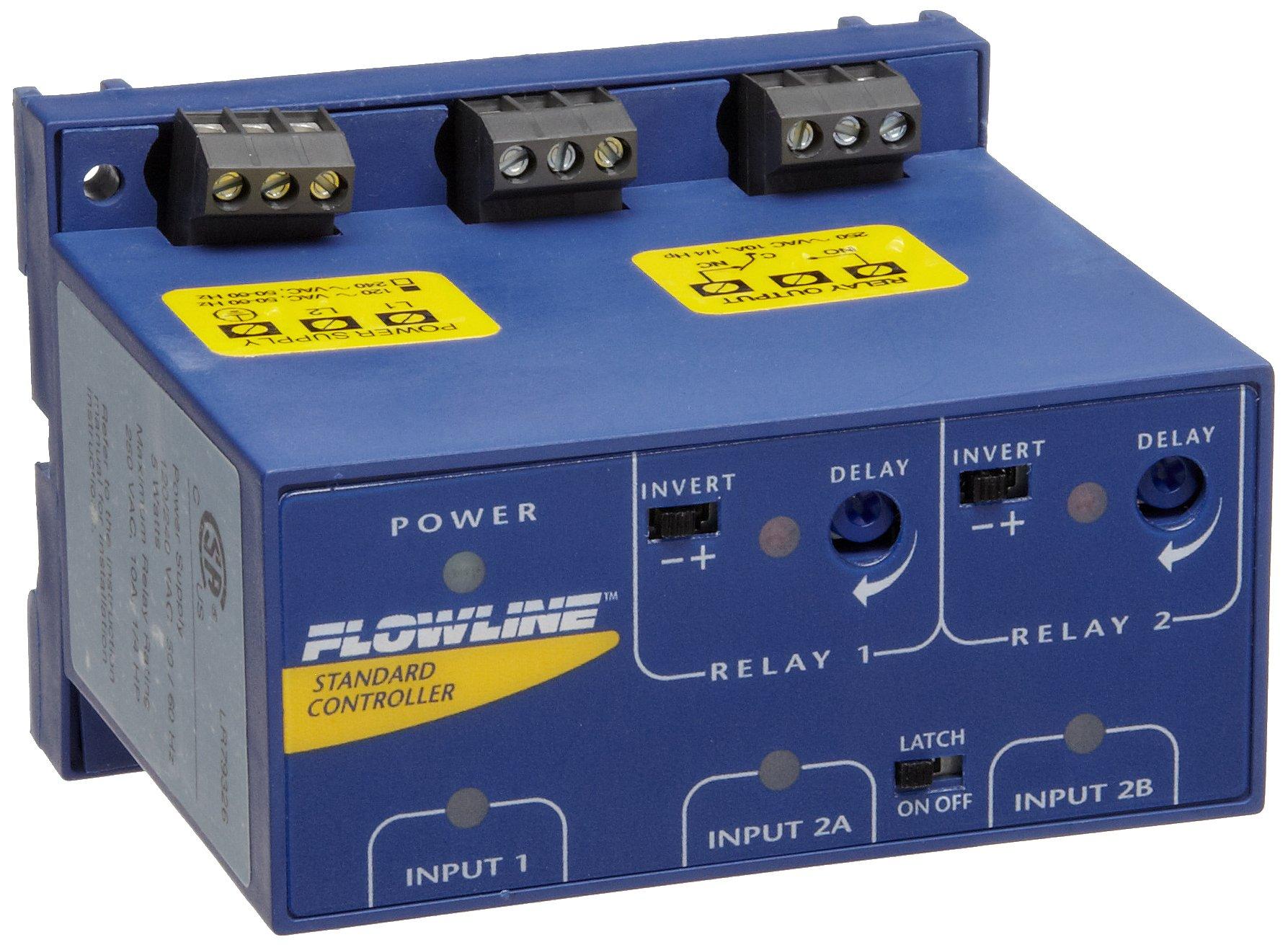 Flowline LC42-1001 Switch-Pro Remote Level Gen-Purpose Controller, 2 Relays/1 Latching, 3 Sensors, 19.05mm NPT