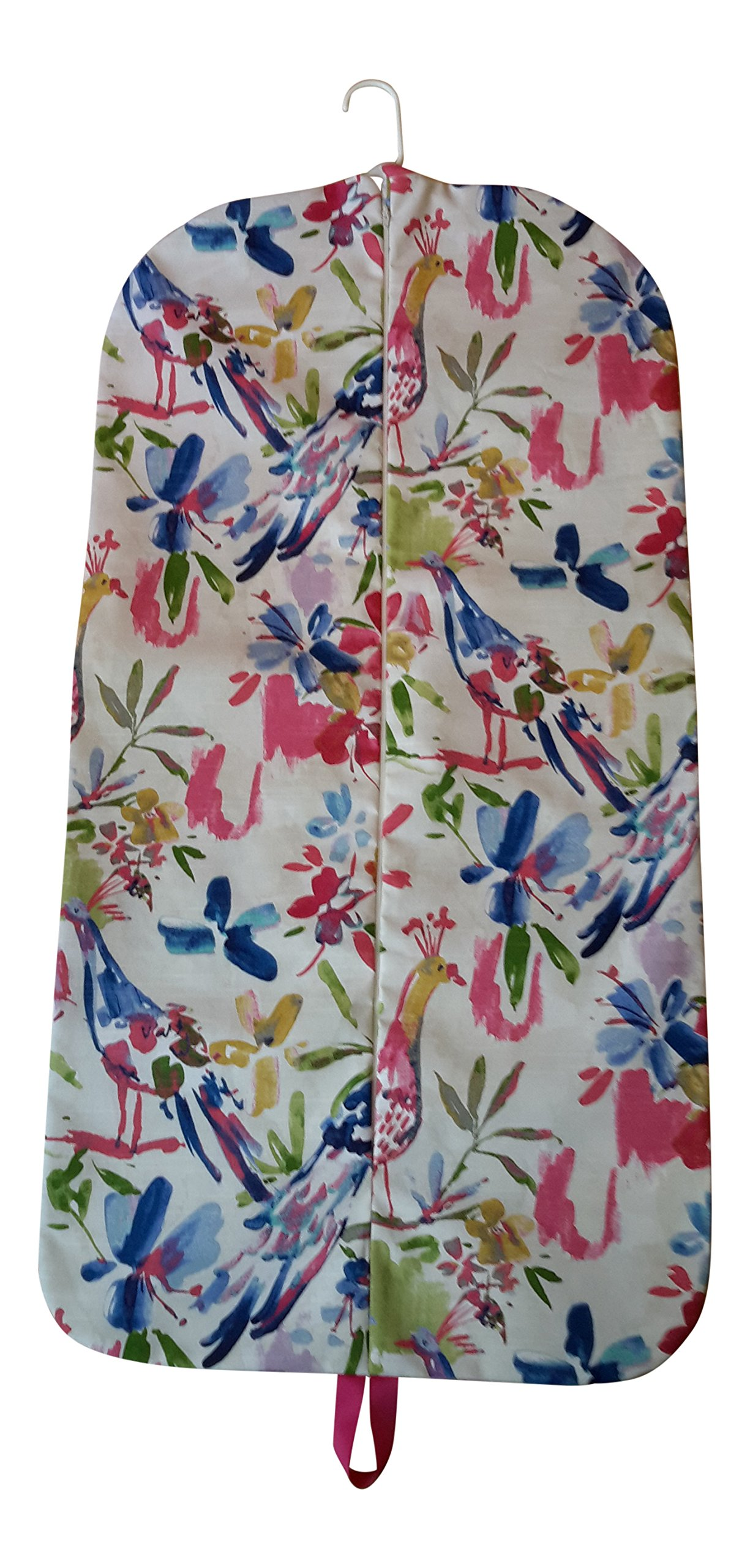 Carry It Well Women's Colorful Birds Hanging Garment Bag