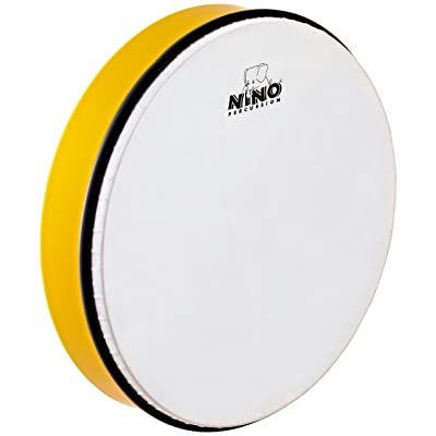 Nino Percussion NINO6Y 12-Inch ABS Plastic Hand Drum with Synthetic Head, Yellow: Musical Instruments