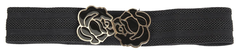 Calonice Amorino Women's Accessory big buckle stretch belt waist band for girls Ladies One size 64x1x5 cm (LxHxW) 26600