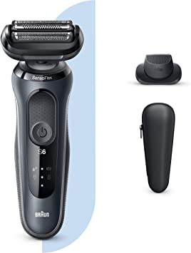 Braun Series 6 60-N1200s Afeitadora Eléctrica, máquina de afeitar barba hombre de Lámina, Con Recortadora De Precisión, Uso En Seco Y Mojado, Recargable, Inalámbrica ...