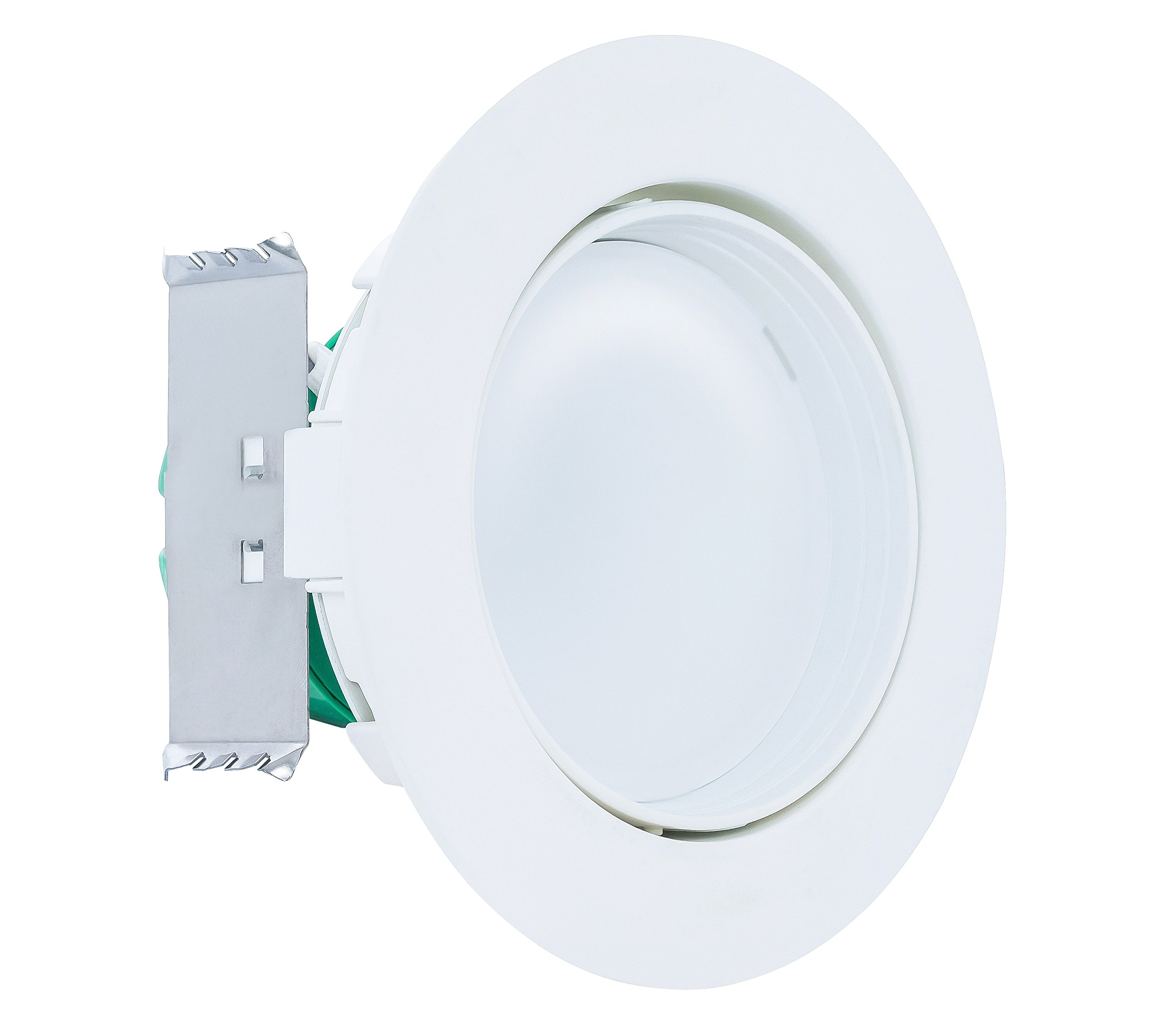 Westgate 10W 4 inch Adjustable LED Retrofit Downlight with Integrated Smooth Trim, Dimmable LED Recessed Light Fixture, Damp Location Rated, 120V Energy Star 5 YR Warranty (4100K Cool White, 1 Pack)