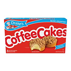 Drake's Coffee Cakes, 8 Individually Wrapped Breakfast Pastries (Pack of 1)