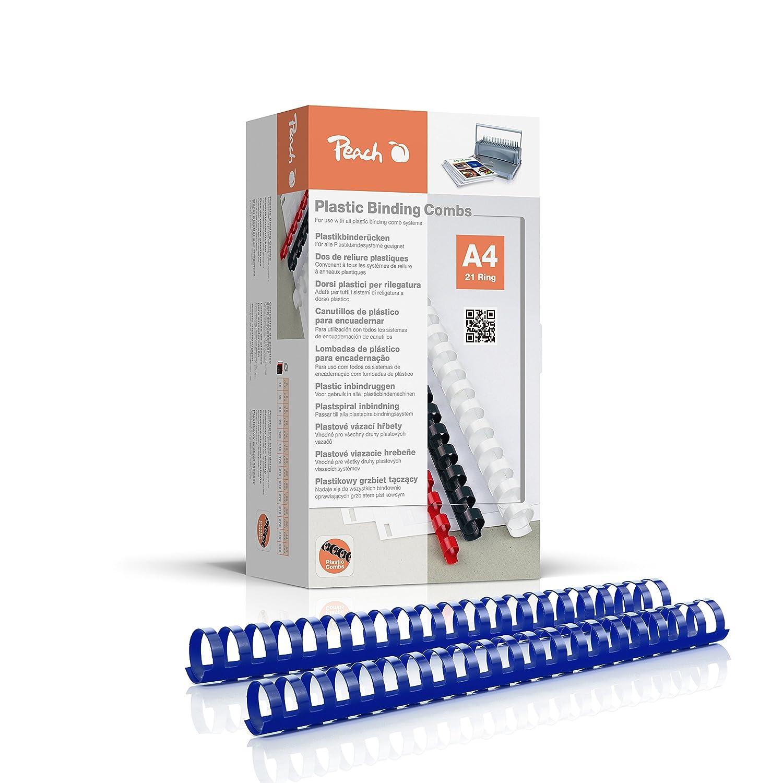 Peach pb432–04Dorsi, Spirale in Plastica, DIN A4, capacità di rilegatura 310pagine, 50pezzi, colore: blu Peach pb432-04Dorsi PB432-04
