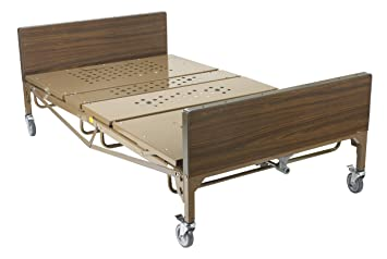 Amazon Com Drive Medical Heavy Duty Bariatric Hospital Bed Brown