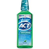 ACT Restoring Anticavity Fluoride Mint Burst Mouthwash 18 Ounce Helps Freshen Breath & Strengthen Tooth Enamel to…