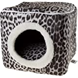 Cat Pet Bed Cave- Indoor Enclosed Covered Cavern/House for Cats Kittens and Small Pets with Removable Cushion Pad by…