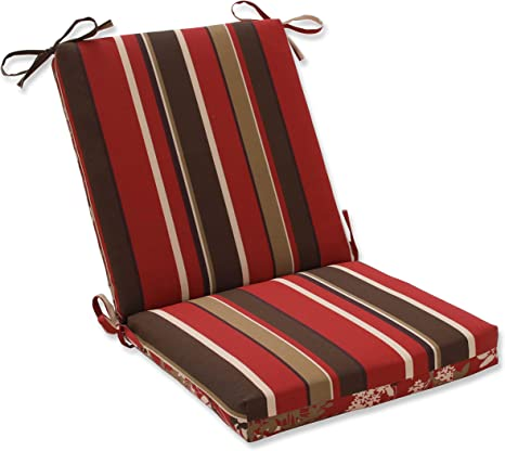 pillow perfect outdoor indoor monserrat montifleuri sangria square corner chair cushion 36 5 x 18 red