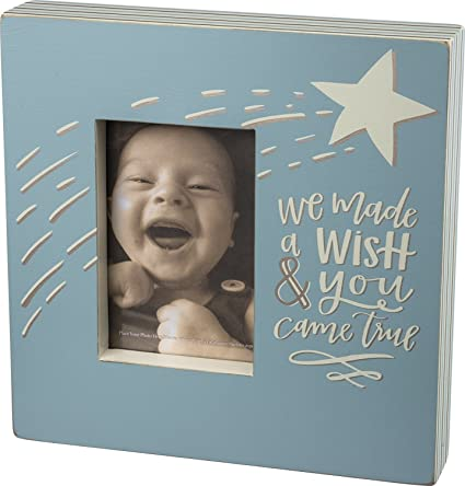 Amazoncom Primitives By Kathy Box Frame We Made A Wish Baby Blue