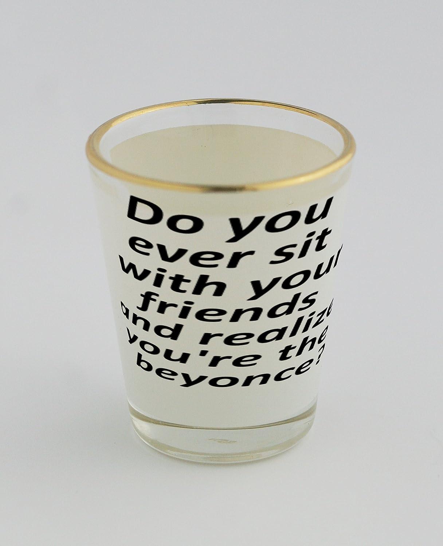 Vasos de chupito con oro borde de hacer usted nunca sentarse con ...