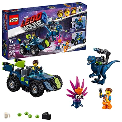 e1fd20c04 Amazon.com: LEGO THE LEGO MOVIE 2 Rex's Rex-treme Offroader! 70826 Dinosaur  Car Toy Set For Boys and Girls, Action Building Kit (230 Pieces): Toys &  Games
