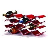 Oenophilia Bali Wine Rack, Crimson -12 Bottle, Solid Wood, Elegant Modern Wine Rack, Table Wine Storage