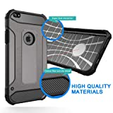 iPhone 8 Case, iPhone 7 Case, Shockproof Heavy Duty Case with [Screen Protector Tempered Glass]Ewaves Anti-Scratch Armor Protective Impact Resistant Silicone Cover for iPhone 7/8, 4.7 inch, Black