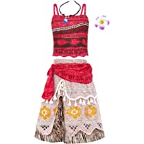 Lovely Girls Kids Moana Sleeveless Party Holiday Birthday Dress B4 Costumes, Reenactment, Theater Girls' Clothing (sizes 4 & Up)