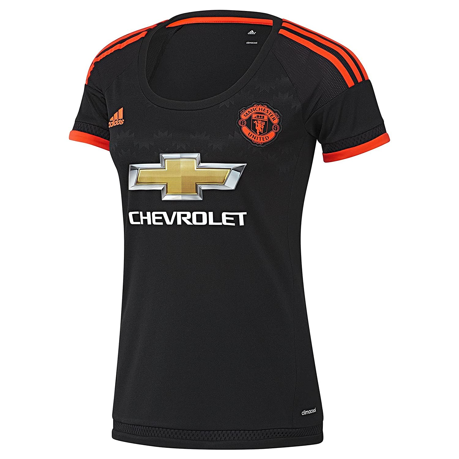 Adidas 2015-2016 Man Utd Damenschuhe Third Football Soccer T-Shirt Trikot