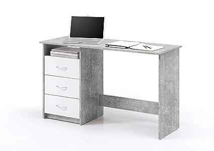 Avanti trendstore adria scrivania con 3 cassetti bianchi ed 1