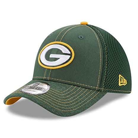best service 5a779 462ae Green Bay Packers New Era NFL 39THIRTY  quot Shadow Burst quot  Flex Fit Hat