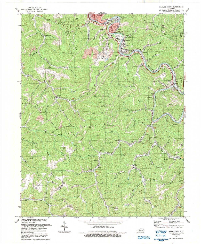 Amazon Com Yellowmaps Hazard South Ky Topo Map 1 24000 Scale 7 5
