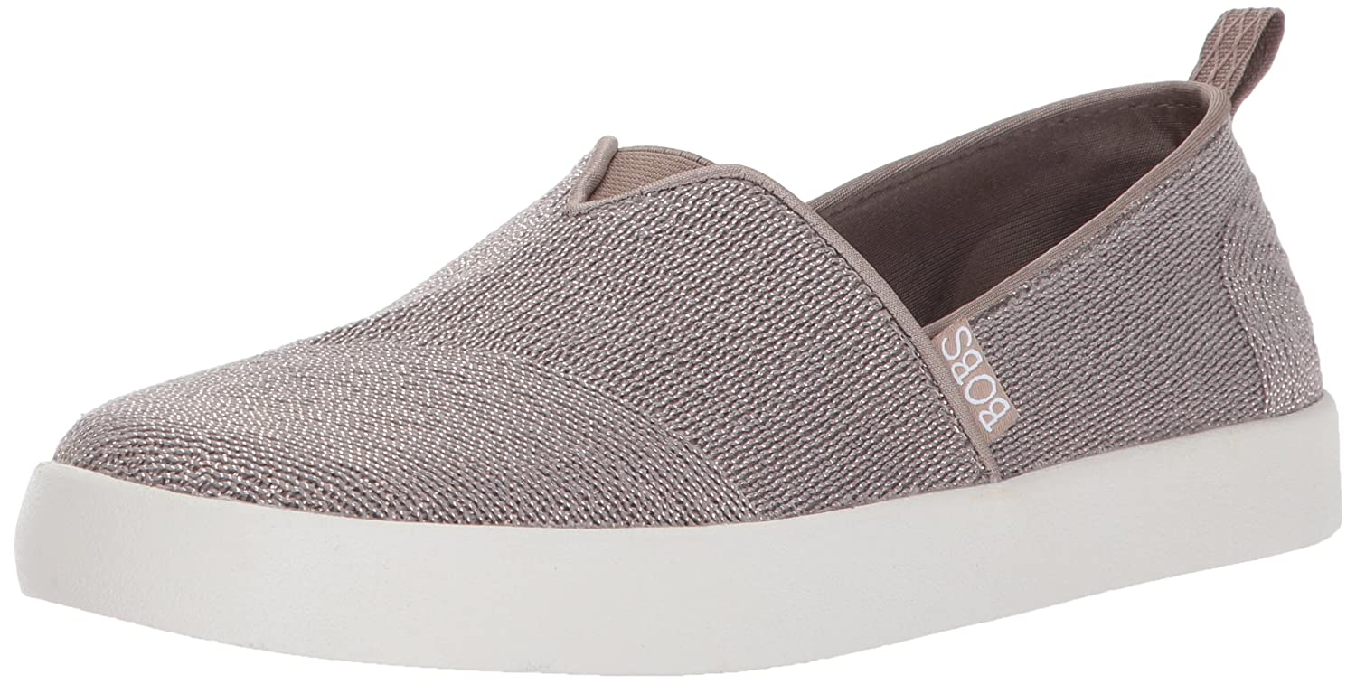 Skechers BOBS from Women's Bobs B-Loved-Sugar Kiss Flat B06Y3LHDN5 7.5 B(M) US|Taupe