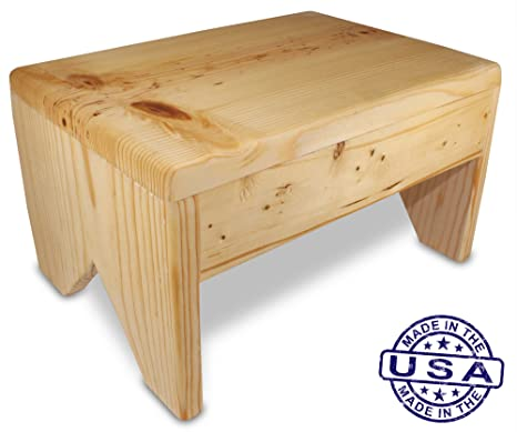 Amazoncom Cutestepstools 8 Inch Solid Wood Step Stool Kitchen
