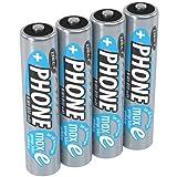 ANSMANN Akku Batterie für Schnurlostelefon Micro AAA, 1,2V / 800mAh / Wiederaufladbare Telefonakkus mit geringer Entladung & ohne Memory Effekt, Ideal für DECT-Telefone (4er Pack)