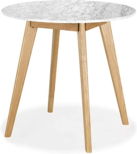 Poly and Bark Riley Marble Round Dining Table