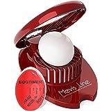 Mevis Line Egg Slicer for Hard Boiled Eggs and BEST Egg Timer, Egg Dicer with Egg Timer That Changes Color When Done
